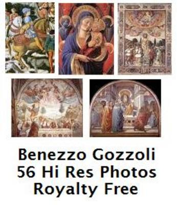 Product picture Benozzo Gozzoli 56 High Resolution Royalty Free Paintings