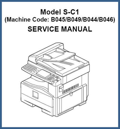 Product picture Aficio 120, S-C1 Service Repair Manual B045/B049/B044/B046