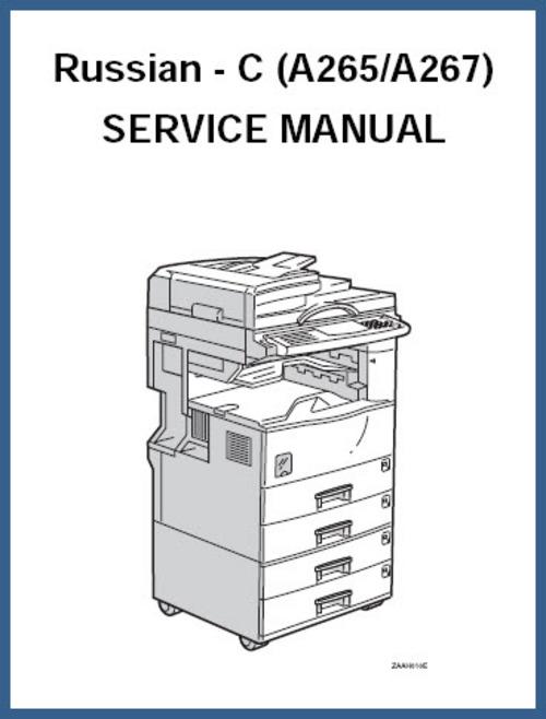 Product picture Ricoh Aficio 220,Russian C (A265/A267) Service Repair Manual