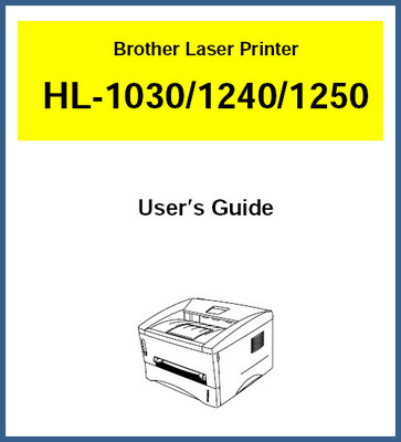 Product picture Brother Laser Printer Model HL-1030/1240/1250 User Manual